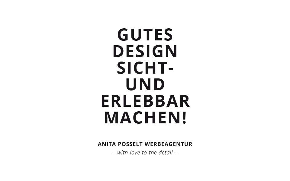 Anita Posselt Konzept & Design